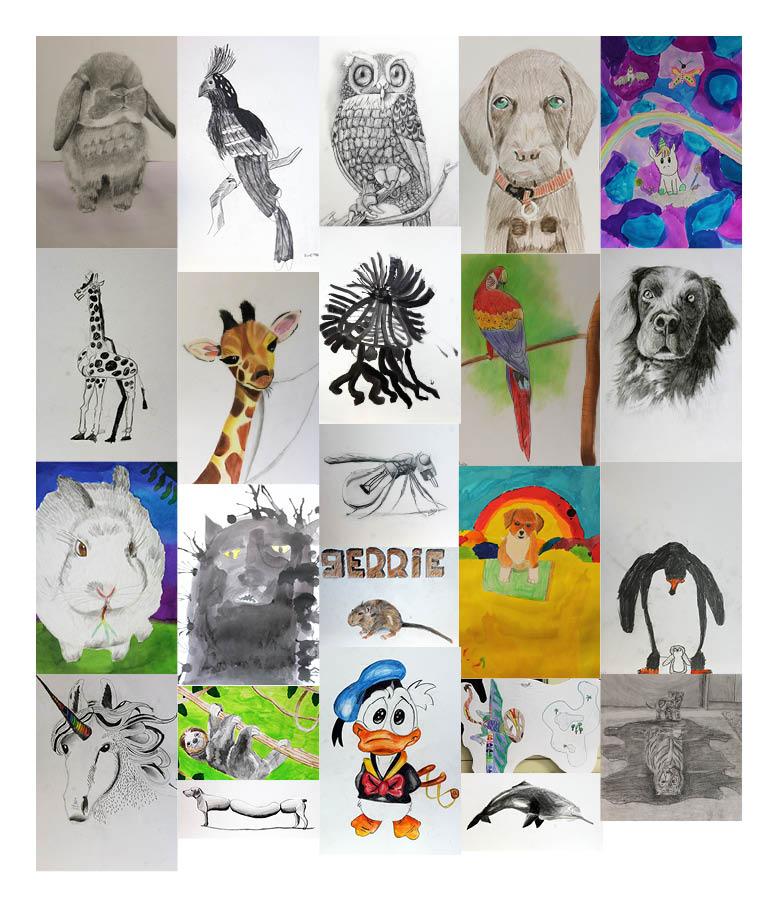 vrije tekeningen dier