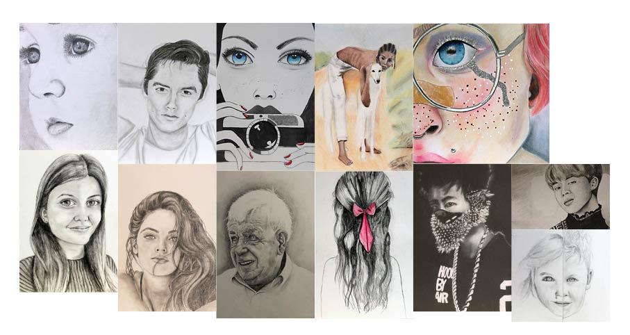 vrije tekeningen portret